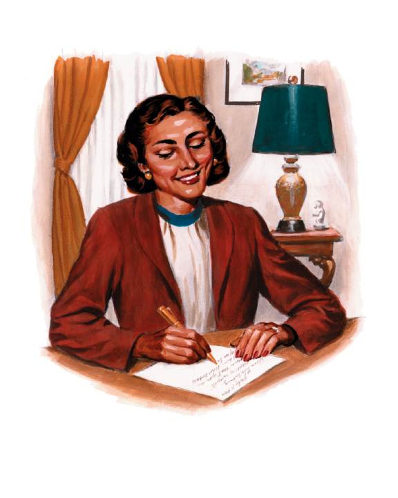Latina writing letter